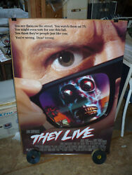 They Live, Nm Orig Rolled D/s 1-sh / Movie Poster Roddy Piper - John Carpenter