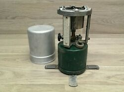 Rare 1942 Coleman 520 Civil Defense Tagged Military Stove W/canister Manual T4