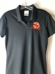 Nike Golf S Dri Fit Polo Shirt The Dog Stop Size Small Dark Gray Top Women's