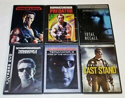 Commando, Predator, Total Recall, Terminator 2 And 3 And The Last Stand Dvd