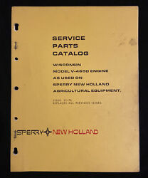 New Holland Service Parts Catalog Wisconsin V-465d Engine 2031