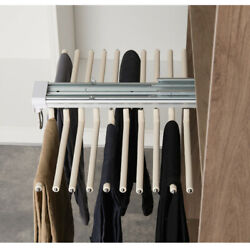 Pull Out Trousers Rack 22 Arms Steel Pull Out Pants Rack Pants Hanger Organizers