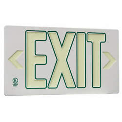 Grainger Approved Gran4736 Exit Sign8 3/4 In X 15 3/8 Inplastic