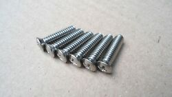6 Stainless Steel Mirror Screws Early Ford Fairlane Mercury Nash Checker Jeep