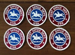 6 Vintage 1970and039s Usps Post Office Dept Embroidered Uniform Patches