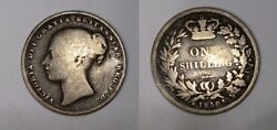 1850 Uk Victoria Shilling Sound Good To Very Good Uncleaned Rare The Key Date