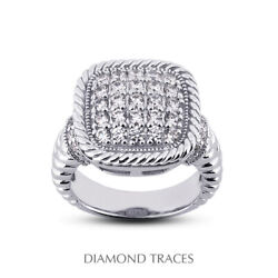 3/4 Ctw E Vs2 Round Cut Earth Mined Certified Diamonds 18k Gold Right Hand Ring