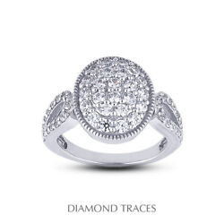 1 1/2 Ct F Vs1 Round Cut Earth Mined Certified Diamonds 14k Gold Right Hand Ring