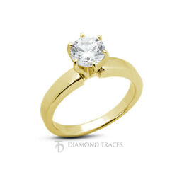 1/3ct D Vs2 Round Natural Diamond 18k Classic Solitaire Engagement Ring