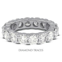 3 Ctw I Si2 Round Cut Natural Certified Diamonds 18k Gold Classic Eternity Band