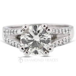 1.16 Carat F-si1 Round Cut Natural Certified Diamonds 18k Gold Engagement Ring