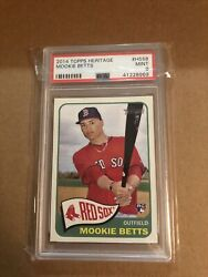 2014 Topps Heritage Mookie Betts Rookie Rc H558 Psa 9