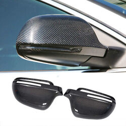 Carbon Fiber Side Mirror Cover Caps For Audi A3 S3 A4 S4 A5 S5 B8 8t Replacement