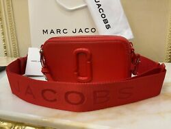 MARC JACOBS The Snapshot DTM Small Camera Bag Red 100% Authentic New with Tag $220.00