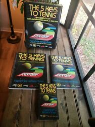 Rare Vtg 1992 The Complete Set The 5 Keys To Tennis Book Universal Language Vhs