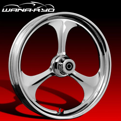 Ryd Wheels Amp Chrome 21 Fat Front And Rear Wheels, Tires Package 09-19 Bagger