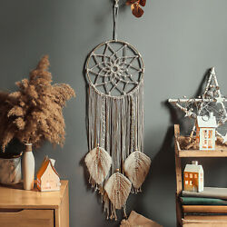 Handmade Bohemian Tapestry Large Woven Macrame Dream Catcher Wall Hanging Decor