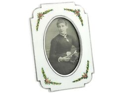 Vintage Italian Solid Silver Photo Frame With Enamel Height 13.2cm