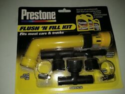 Prestone Flush And039n Fill Kit Most Cars And Trucks Cooling System Antifreeze Coolant