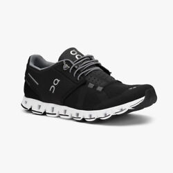 On Cloud Womens Black White Athletic Performance Running Walking Shoes