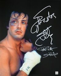Sylvester Stallone And Talia Shire Autographed Rocky 16x20 Photo Asi Proof