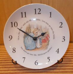 Wedgwood quot; Peter Rabbit quot; Nursery Wall Clock Works Peter amp; Mom Featured