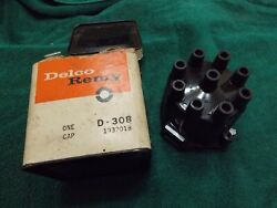 Delco-remy Nos Gm 1932018 V8 Distributor Cap Black Tall Tower Excellent D308