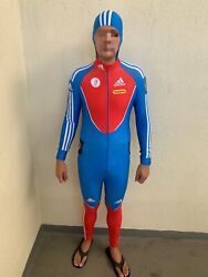 Adidas Bobsled Russia Russian Full Body Suit Large Compression Olympic Uniform L