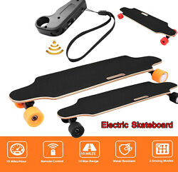 Electric Skateboard Maple Deck Longboard Crusier With Remote Controller Teen