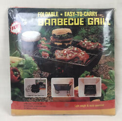 Vintage Foldable Barbeque Grill New In Pack