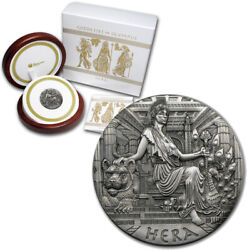 Tuvalu 2 Dollars 2015 2oz Silver High Relief And039the Goddesses Of Olympus Andndash Heraand039