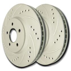 Sp Performance F55-081 Drilled Slotted Brake Rotors Zrc Coating L/r Pr Front