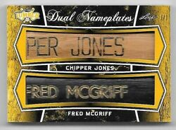 2021 Leaf Lumber Chipper Jones And Fred Mcgriff Dual Nameplate Bat Relic 1/1 Rare