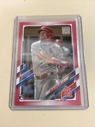 2021 Topps Series 1 Dylan Carlson Mothers Day Pink 5/50 Cardinals Rookie