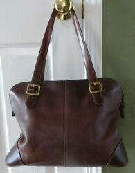Fossil Brown Leather Purse Shoulder Bag Pebble ZB9588 $39.89