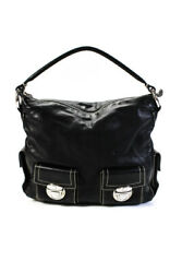 Marc Jacobs Womens Leather 2 Pocket Hobo Medium Sized Handbag Black $69.99