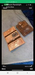 Womens Vintage Fossil Wallets One Brown one Tan Hard to find Style $35.00