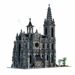Moc-29962 Modular Cathedral Building Bricks Architecture Church Diy Toy Gifts