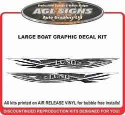 Large Boat Graphic Decal Kit Fits Lund Boats