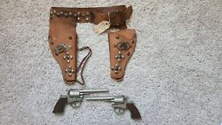 Vintage Hubley Cowpoke Guns With Holster Antique Archaeology
