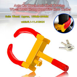 3 Keys Anti Theft Wheel Lock Clamp Boot Tire Claw Trailer Auto Car Truck Towing