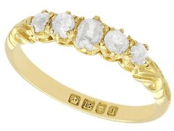 Antique 1911 0.66 Ct Diamond And 18k Yellow Gold Five Stone Ring