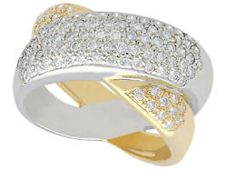 Contemporary 0.52 Ct Diamond And 18 Carat Gold Dress Ring