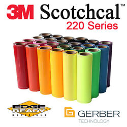 3m 220 Scotchcal 15 X 50yd Full Roll Of Punched Gerber Print/cut Ready Vinyl