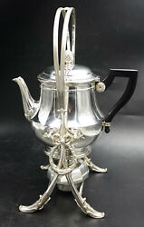 19th Century French Christofle Silver Plate Samovar With Ebony Handle