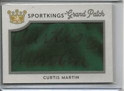 2020 Sport Kings Curtis Martin Game-worn Grand Patch Relic W/auto 1/1 Wow