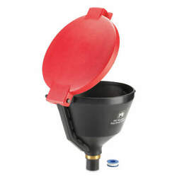 Pig Drm1681-rd Drum Funnel,10 Gal. Flow Capacity,red