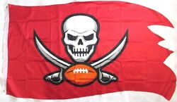 Tampa Bay Buccaneers 3and039 X 5and039 Red Banner Flag Official 2020 Season Nfl New