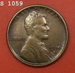 1914-d Lincoln Wheat Cent Au Free S/h After 1st Item