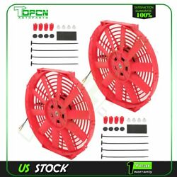 12 Electric Radiator Condenser Cooling Fan Universal For 2008-2013 Infiniti G37